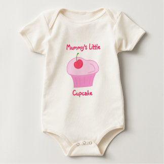 Mummy's Little Cupcake -Cute Pink Cake with Cherry Baby Creeper