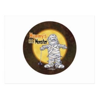 Mummy's little monster postcard
