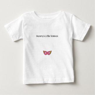 Mummy's Little Sidekick superhero mask pink Baby T-Shirt