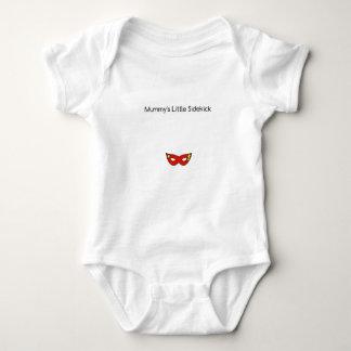 Mummy's Little Sidekick superhero mask unisex Baby Bodysuit
