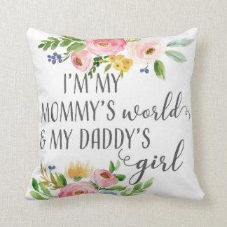 Mummy's World Daddy's Girl Baby Nursery Pillow