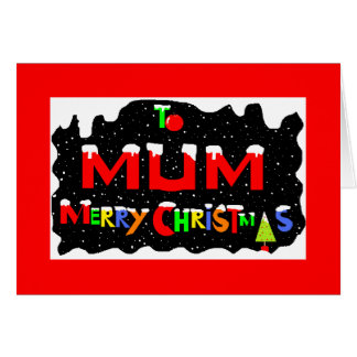 Mums Christmas card