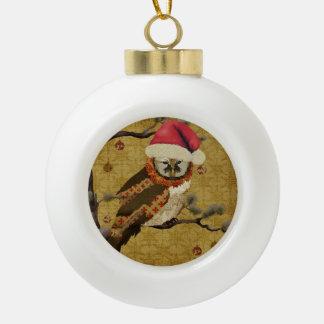 Mums Christmas Owl Ornament