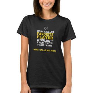 Mum's Favourite BB/SB Player Dark Shirt Front Only