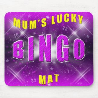 mum's lucky bingo mat mouse pad