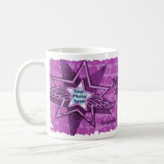 Mum's/Mom's Angels in stars purple mug