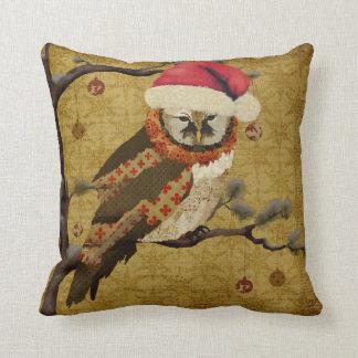 Mums Owl Christmas MoJo Pillow Cushion
