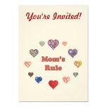 Mum's Rule 13 Cm X 18 Cm Invitation Card