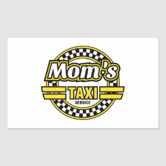 Mum's Taxi Service Rectangular Sticker