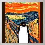 Munch penguin poster