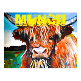 Munch The highland Coo Postcard