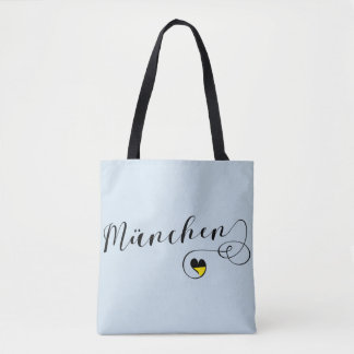 München Heart Grocery Bag, Bavaria Munich Tote Bag