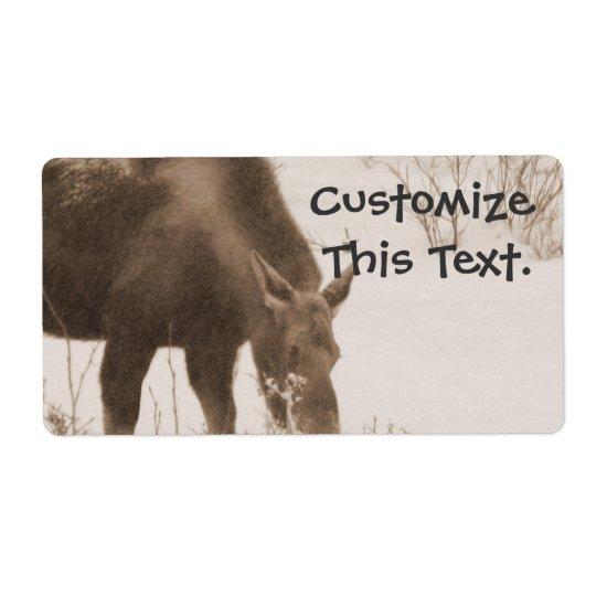 Munching Moose Shipping Label