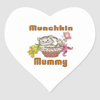 Munchkin Cat Mom Heart Sticker