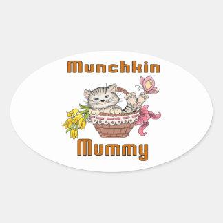 Munchkin Cat Mom Oval Sticker