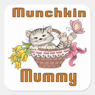 Munchkin Cat Mom Square Sticker
