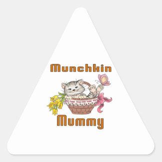 Munchkin Cat Mom Triangle Sticker