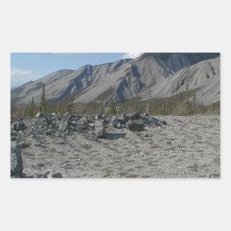 Muncho Lake, Yukon, Canada Rectangular Sticker