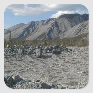 Muncho Lake, Yukon, Canada Square Sticker