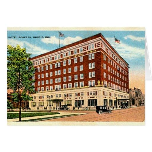 Muncie, Indiana Hotel Roberts Greeting Card