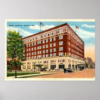 Muncie, Indiana Hotel Roberts Poster