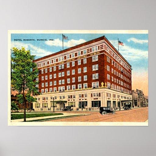 Muncie, Indiana Hotel Roberts Posters
