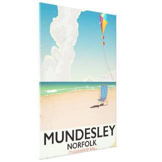 Mundesley Norfolk Beach travel poster Canvas Print