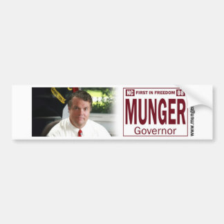Munger for NC Governor Bumper Sticker