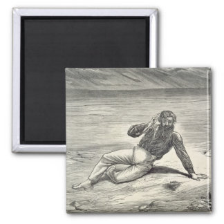 Mungo Park (1771-1806) encouraged by the sight of Square Magnet