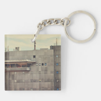 Munich architecture Double-Sided square acrylic key ring