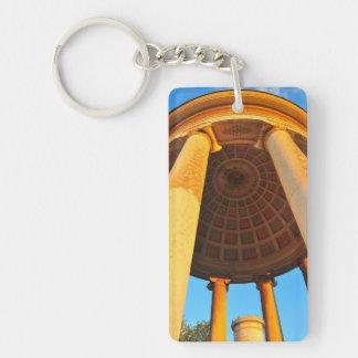Munich architecture Double-Sided rectangular acrylic key ring