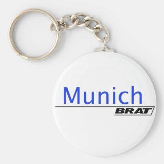 Munich Brat -A001 Basic Round Button Key Ring