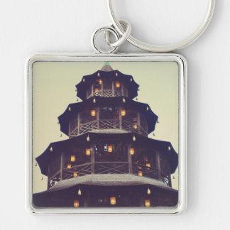 Munich chinese tower keychain