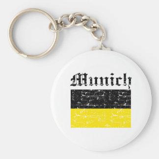 Munich City Designs Basic Round Button Key Ring
