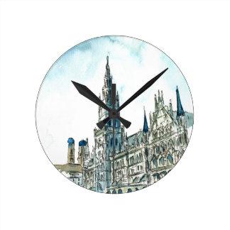 Munich city Hall Marienplatz Round Clock