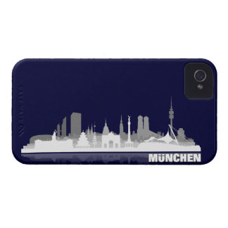 Munich city of skyline - Blackberry bowl iPhone 4 Cases