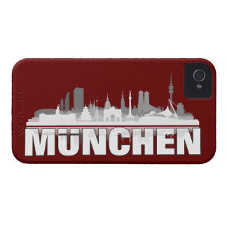 Munich city of skyline - Blackberry bowl Case-Mate iPhone 4 Cases