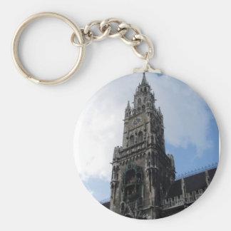 Munich Clock Tower Marienplatz Key Chains