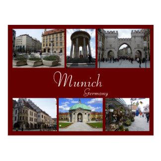 Munich Collage Postcard