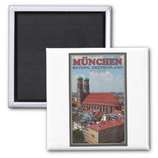 Munich Frauenkirche (Portrait) Magnets