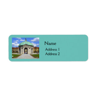 Munich Garden (Hofgarten) Return Address Label