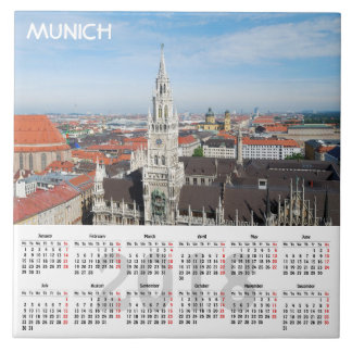 Munich, Germany 2018 Calendar Tile