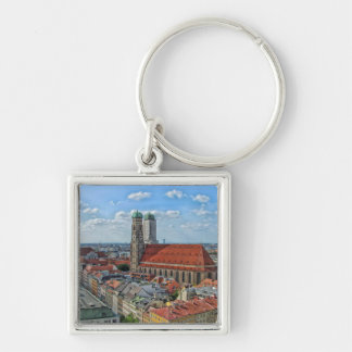 Munich, Germany Silver-Colored Square Key Ring