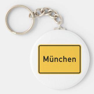 Munich Germany Road Sign Key Chains