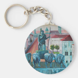 Munich Leopold Str With Bavaria And Alps Key Chain