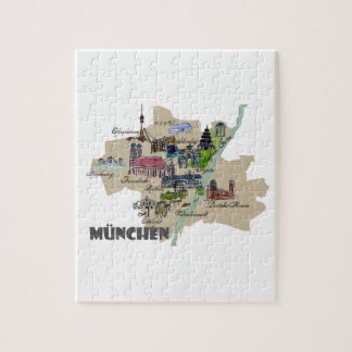 Munich Map Overview Jigsaw Puzzle