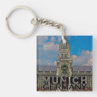 Munich Single-Sided Square Acrylic Key Ring