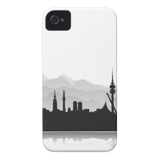 Munich skyline Blackberry sleeve/Case Case-Mate iPhone 4 Cases