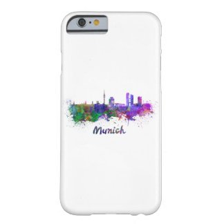 Munich skyline in watercolor barely there iPhone 6 case