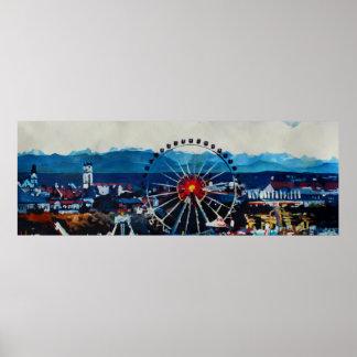 Munich skyline Panorama Poster